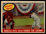 1959 Topps #461   -  Mickey Mantle Mantle Hits 42nd Homer for Crown Front Thumbnail