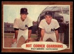 1962 Topps #163 A Hot Corner Guardians  -  Billy Gardner / Clete Boyer Front Thumbnail
