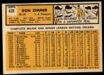 1963 Topps #439 A  Don Zimmer Back Thumbnail