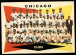 1960 Topps #513   Cubs Team Checklist Front Thumbnail