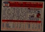 1957 Topps #32  Hersh Freeman  Back Thumbnail