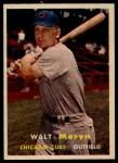 1957 Topps #16  Walt Moryn  Front Thumbnail