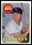 1969 Topps #500 *WN* Mickey Mantle  Front Thumbnail