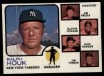 1973 Topps #116 NAT Yankees Field Leaders  -  Ralph Houk / Jim Hegan /  Elston Howard / Dick Howser / Jim Turner Front Thumbnail