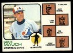 1973 Topps #377  Expos Leaders  -  Gene Mauch / Dave Bristol / Larry Doby / Cal McLish / Jerry Zimmrman Front Thumbnail