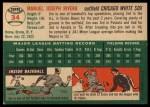 1954 Topps #34  Jim Rivera  Back Thumbnail
