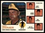 1973 Topps #12 ORG Padres Field Leaders  -  Don Zimmer / Dave Garcia / Johnny Podres / Bob Skinner / Whitey Wietelmann Front Thumbnail