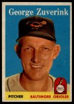 1958 Topps #6  George Zuverink  Front Thumbnail
