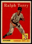 1958 Topps #169   Ralph Terry Front Thumbnail
