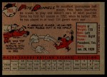 1958 Topps #265   Pete Runnels Back Thumbnail