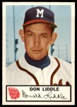 1953 Johnston Cookies #9  Don Liddle  Front Thumbnail