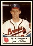 1953 Johnston Cookies #19   Jack Dittmer  Front Thumbnail