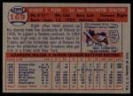 1957 Topps #169   Herb Plews Back Thumbnail