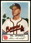 1953 Johnston Cookies #15  Del Crandall  Front Thumbnail
