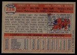 1957 Topps #228   Smoky Burgess Back Thumbnail