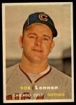 1957 Topps #371  Bob Lennon  Front Thumbnail