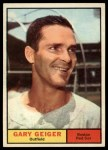 1961 Topps #33  Gary Geiger  Front Thumbnail