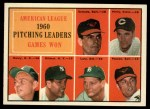 1961 Topps #48  AL Pitching Leaders  -  Bud Daley / Art Ditmar / Chuck Estrada / Frank Lary / Milt Pappas / Jim Perry Front Thumbnail