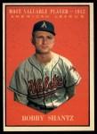 1961 Topps #473  Most Valuable Player  -  Bobby Shantz Front Thumbnail