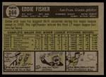 1961 Topps #366  Eddie Fisher  Back Thumbnail